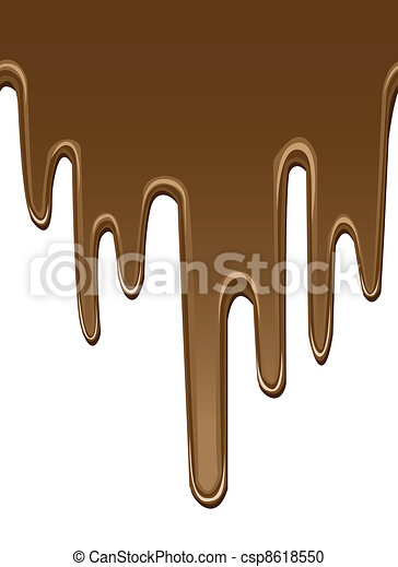 seamless melted chocolate backgrounds - csp8618550