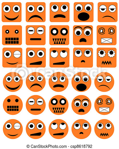 Vector emotion icons - csp8618792