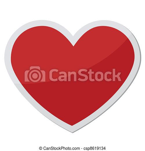 heart shape for love symbols - csp8619134