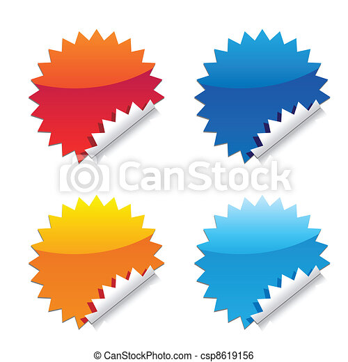 glossy seal stickers - csp8619156