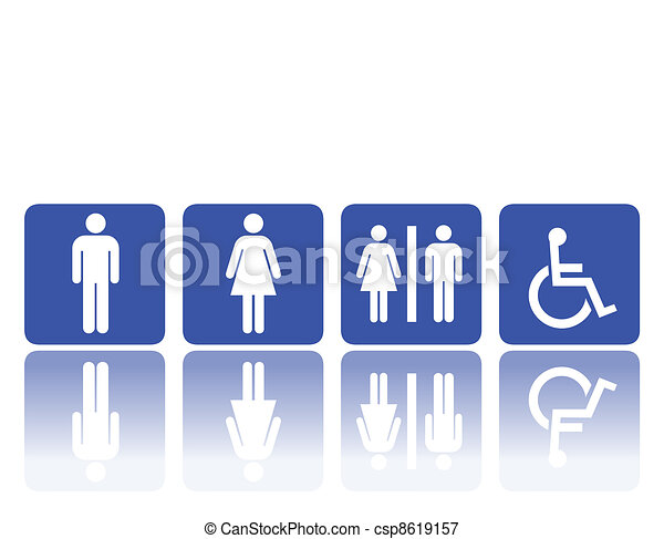 toilet signs, man and woman - csp8619157