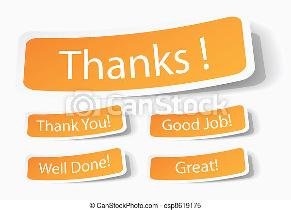 thanks for customers service - csp8619175