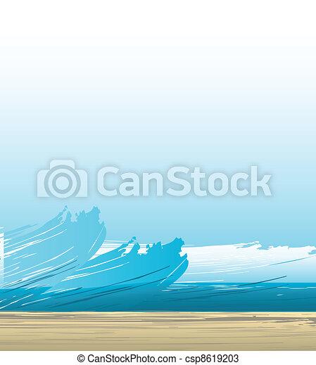spiritual background with waves  - csp8619203