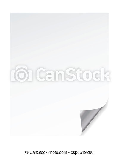 paper page corner curl effects, vector  - csp8619206