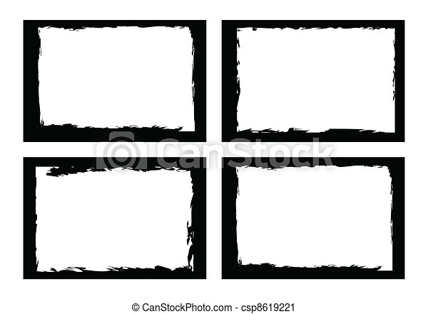 grunge borders, frames, for image or photo. vector format. - csp8619221