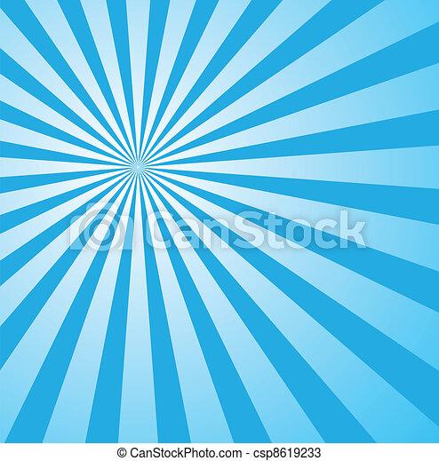 blue sunburst retro style - csp8619233
