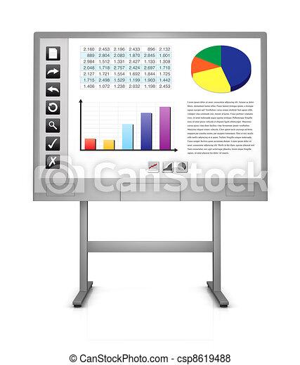 interactive whiteboard - csp8619488