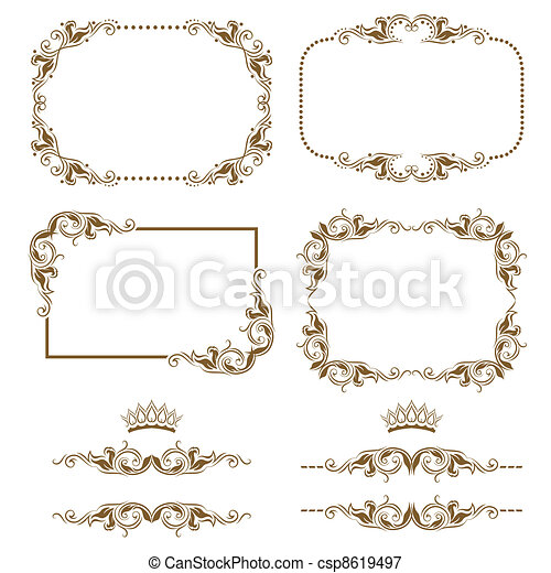 decorative frame - csp8619497
