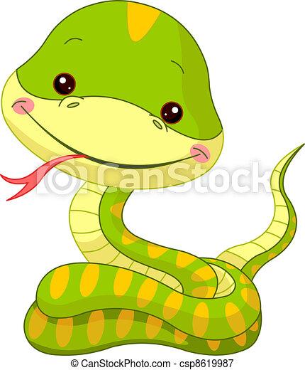 Fun zoo. Snake - csp8619987