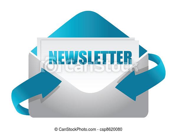 newsletter envelope illustration - csp8620080