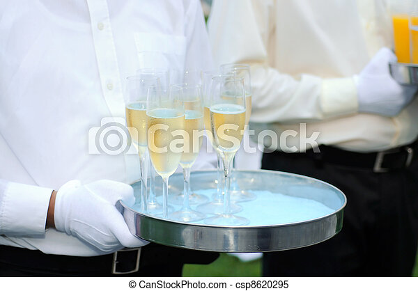 Waiter with champagne - csp8620295
