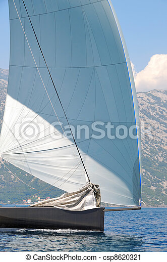 Sailing yacht detail - csp8620321