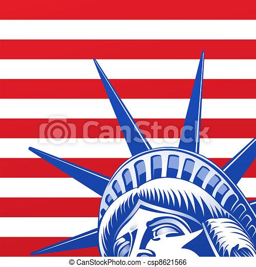 Liberty Statue Face - csp8621566