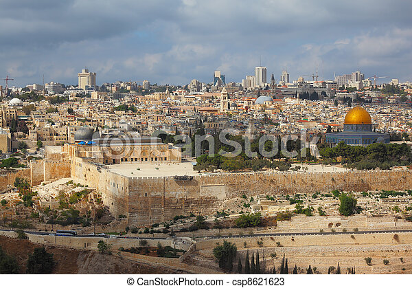 Holy City of Jerusalem - csp8621623