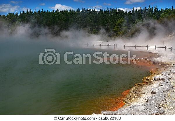 Waiotapu Geothermal Wonderland, Rotorua, New Zealand - csp8622180