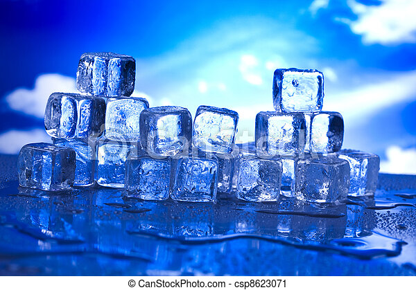 Melting ice cubes - csp8623071