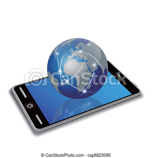 network earth on smart phone - csp8623090