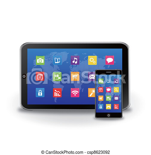 tablet PC and touchscreen smartphon - csp8623092