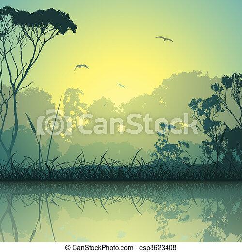 Meadow Landscape - csp8623408