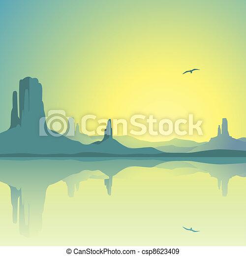 Desert Landscape - csp8623409