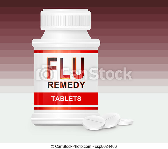 Flu treatment concept. - csp8624406