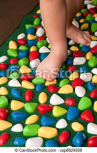 Orthopedic rug for children - csp8624508