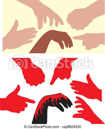 racism - human hands - csp8624530