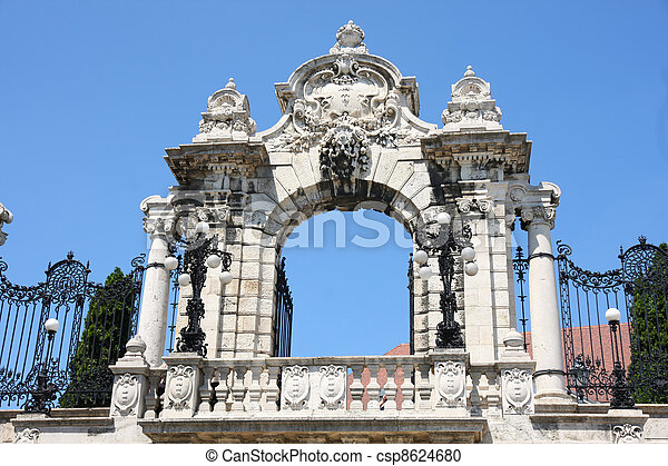 Gate of Buda Castle in Budapest, Hungary - csp8624680