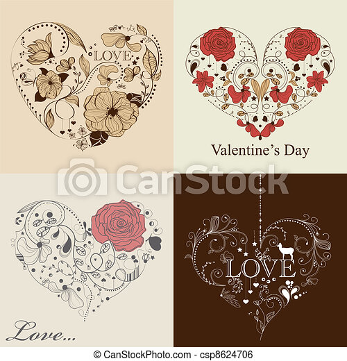 St. Valentine's day set - csp8624706