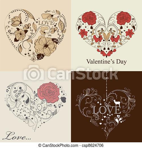 St. Valentine's day set - csp8624706