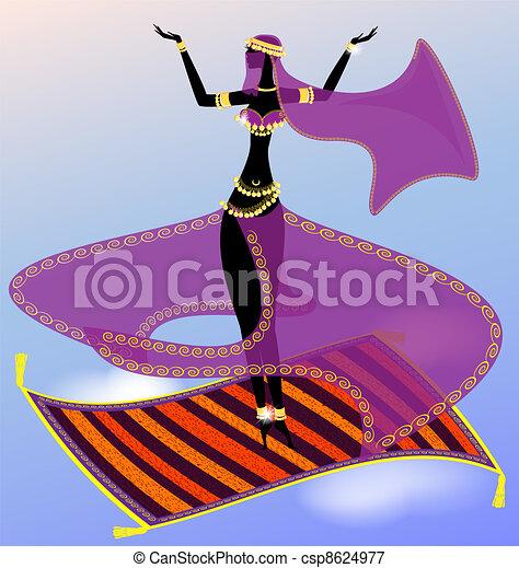 fairy oriental dancer - csp8624977