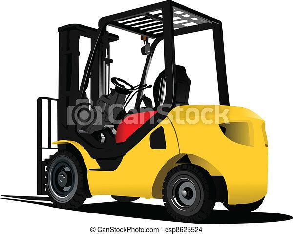 Lift truck. Forklift. Vector illus - csp8625524