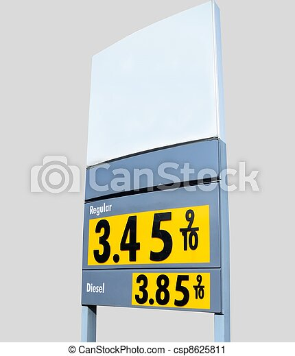 gasoline price sign - csp8625811