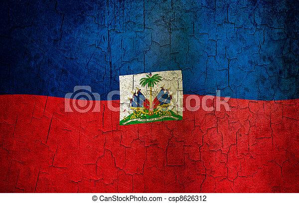 Grunge Haiti flag  - csp8626312