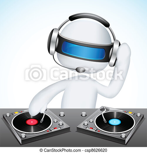 3d Disco Jockey in Vector - csp8626620