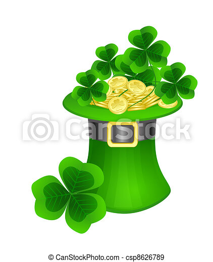 St. Patrick  hat - csp8626789