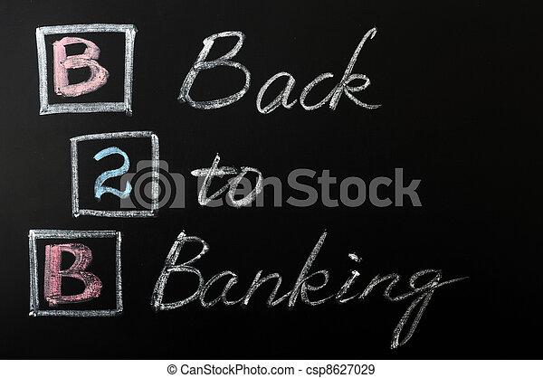 Acronym of B2B - Back to Banking - csp8627029
