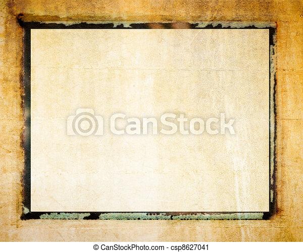 Polaroid transfer photo border - csp8627041