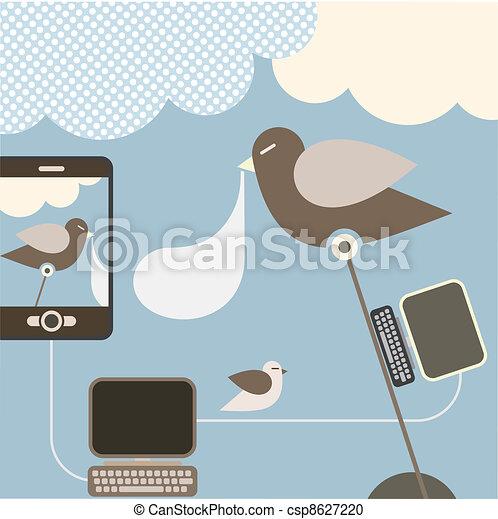 Social Network - illustration - csp8627220