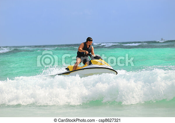 man drive on the jetski - csp8627321
