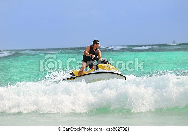 man drive on the jetski - csp8627321