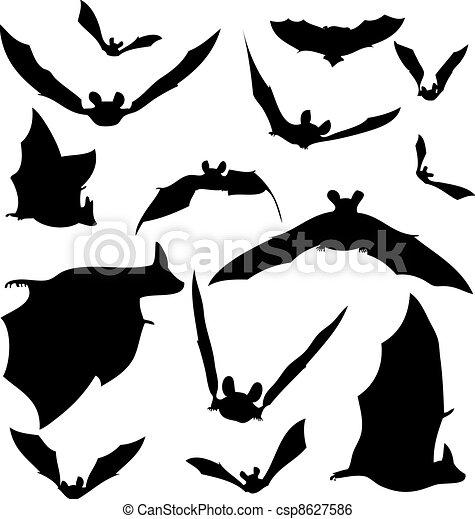 Bat Silhouettes  - csp8627586