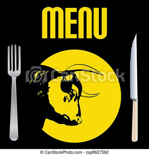 Steak Menu - csp8627592