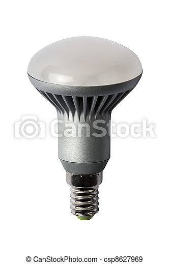LED energy safing bulb. R50 E27. Isolated object - csp8627969