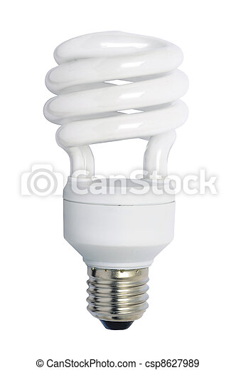 Energy saving bulb. Isolated image. - csp8627989