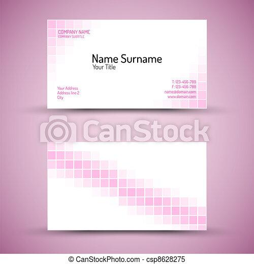Set of modern vector business card template - csp8628275