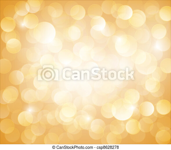 Sunny Yellow Vector bokeh background - csp8628278