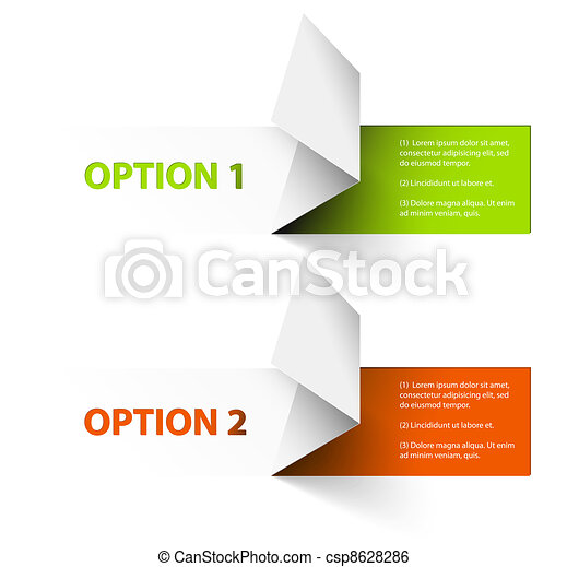 Set of Colorful Vector Sample option stickers - csp8628286