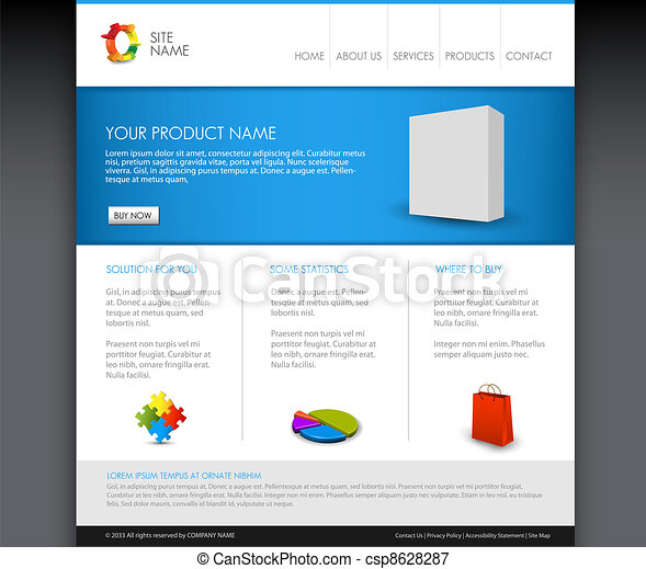 Vector Modern product homepage template - csp8628287