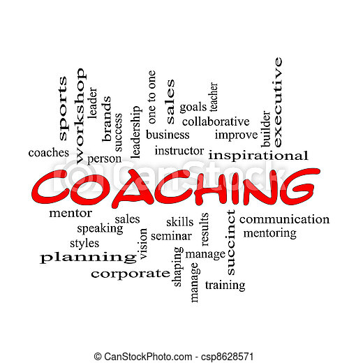 Red Caps Coaching Word Cloud Scribbled  - csp8628571